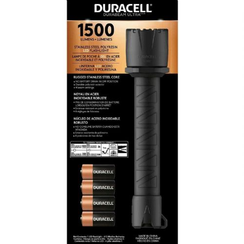 Duracell Durabeam Ultra LED Flashlight 1500 Lumens Torch with Batteries